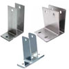 Toilet partition pilaster-wall brackets