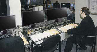 wire shelving computer workstations